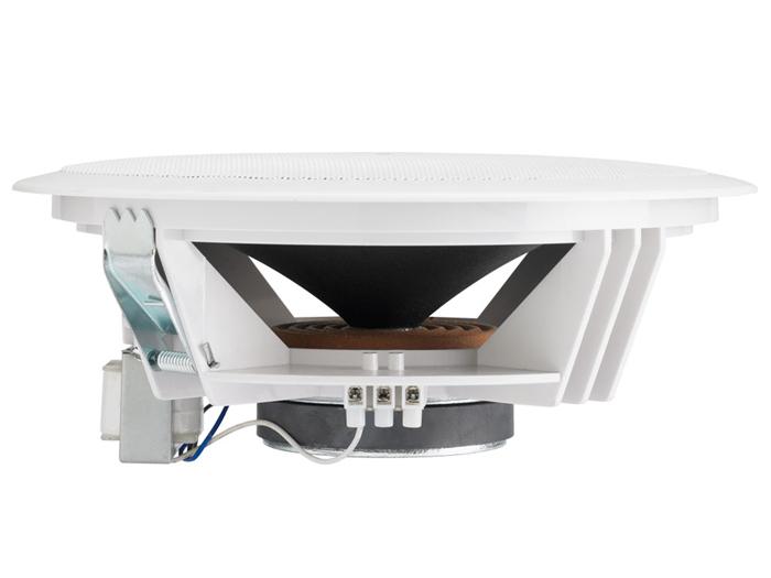 Haut-Parleur de Sonorisation 100 V 6,5'' - Pouces Grille Blanche - Double Cône - CHP606