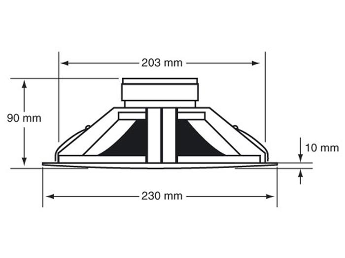 CHP606 - Altifalante de Embutir para Linha 100 V 6,5