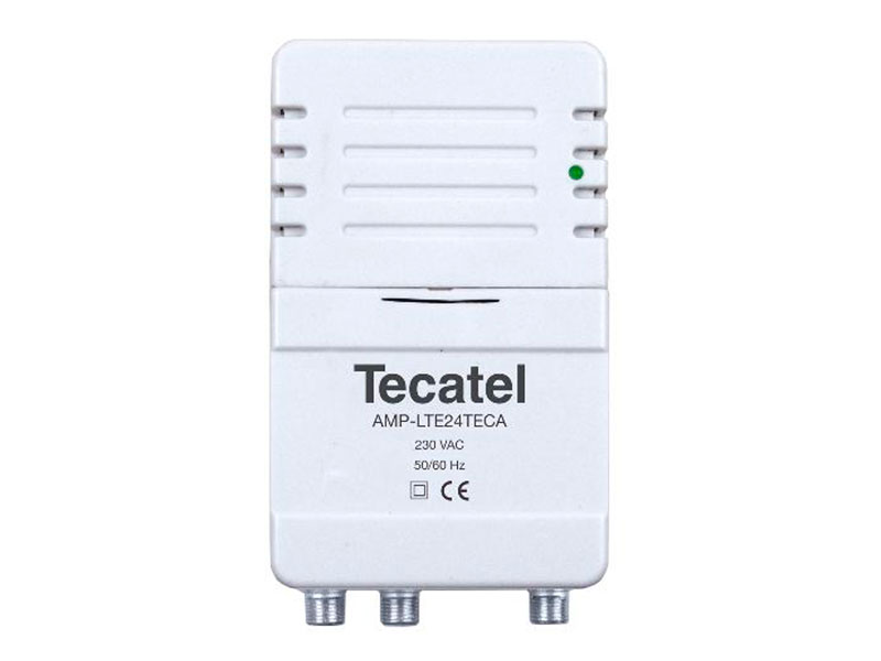 Tecatel amp-lte24atb - indoor TV antenna amplifier 2 outputs
