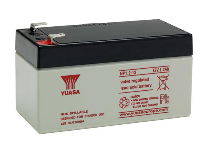 YUASA - NP1.2-12 : 12 V - 1.2 AH lead-acid battery