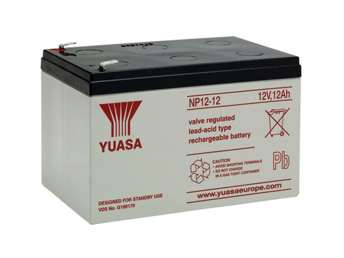 YUASA - NP12-12 : 12 V - 12.0 AH lead-acid battery