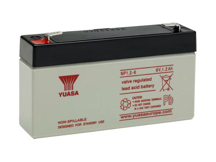 YUASA NP1,2-6 - BATERIA PLOMO 6V - 1,2AH