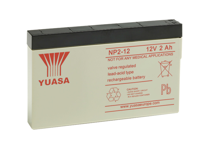 YUASA - NP2-12 :12 V - 2.0 AH lead-acid battery