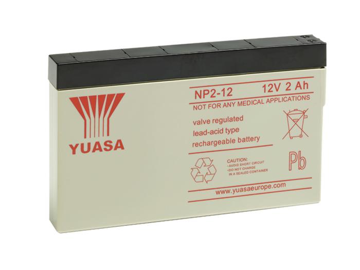 BATERIA PLOMO 12V - 2,0AH YUASA NP2-12