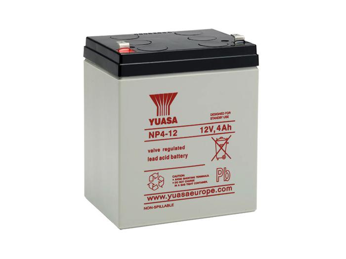 Yuasa 4-12 - 12 V - 4.0 Ah Lead-Acid Battery - NP4-12