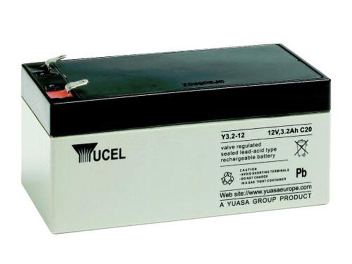 Batterie plomb 12 V - 3,2 AH - YUCELL - 3.2-12 (équivalent: YUASA NP3,2-12)