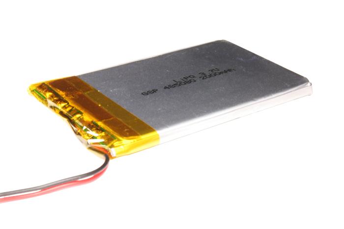 3.7 V - 2000 mA lithium polymer battery