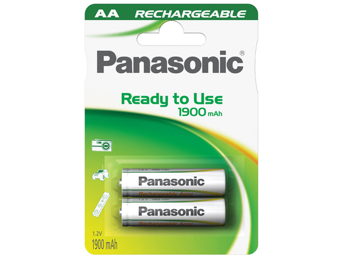 Panasonic HHR3MVE2BC - 1.2 V - 1000 mAh NiMH AA Battery - 2 Unit Blister Pack