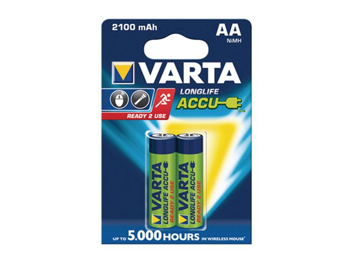 Batterie NiMH 1,2 V - 2100 mAH - AA - 2 unités sous blister - VARTA