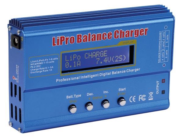 Charger forLi-ion, LiPo, LiFe, NiCd, NiMH, Pb Batteries