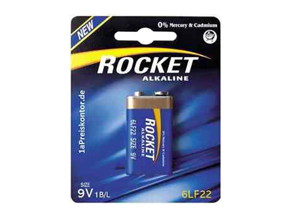 ROCKET 6LR61 - 6LF22 - 9 V alkaline battery