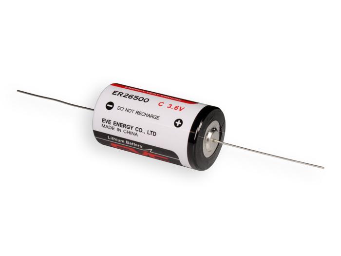 Pilha lítio C 3,6 V 8500 mA - ER26500 - com pinos - LS26500