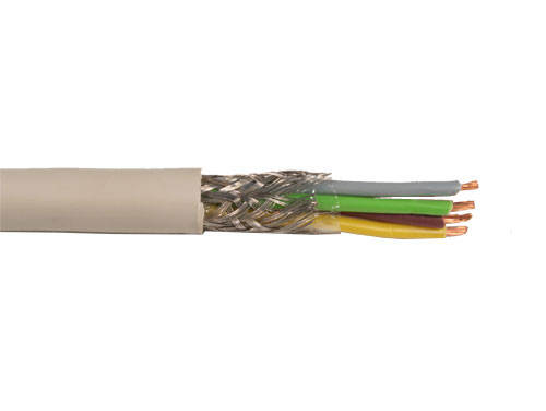 Round Shielded YCY Braided Cable - 4 x 0.5 mm - YCY 4X0,50