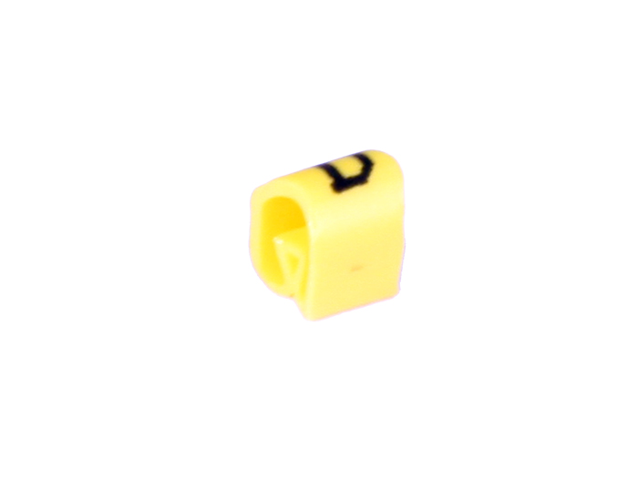 Bag of 100 cable markers Ø2.2-Ø5 mm - yellow letter d