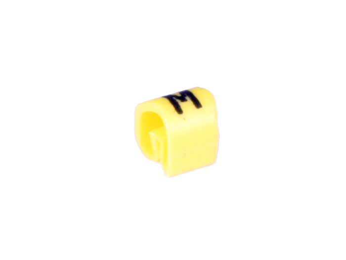 Pliotex - Bag of 100 Cable Markers Ø2.2-Ø5 mm - Yellow Letter M - TPTV45-M-AM