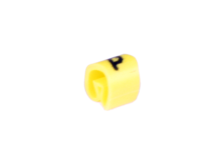 Pliotex - Bag of 100 Cable Markers Ø2.2-Ø5 mm - Yellow Letter p - TPTV45-P-AM