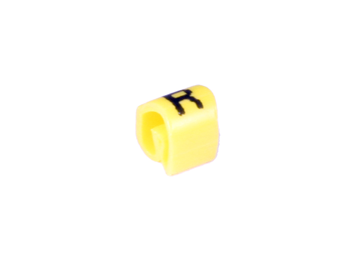Pliotex - Bag of 100 Cable Markers Ø2.2-Ø5 mm - Yellow Letter R - TPTV45-R-AM