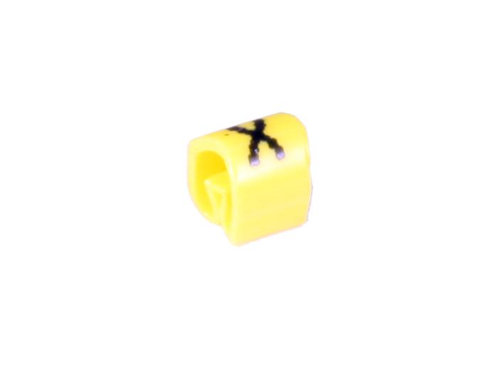 Pliotex - Saco 100 Marcadores Cabo Ø2,2-Ø5mm - Amarelo Letra X - TPTV45-X-AM
