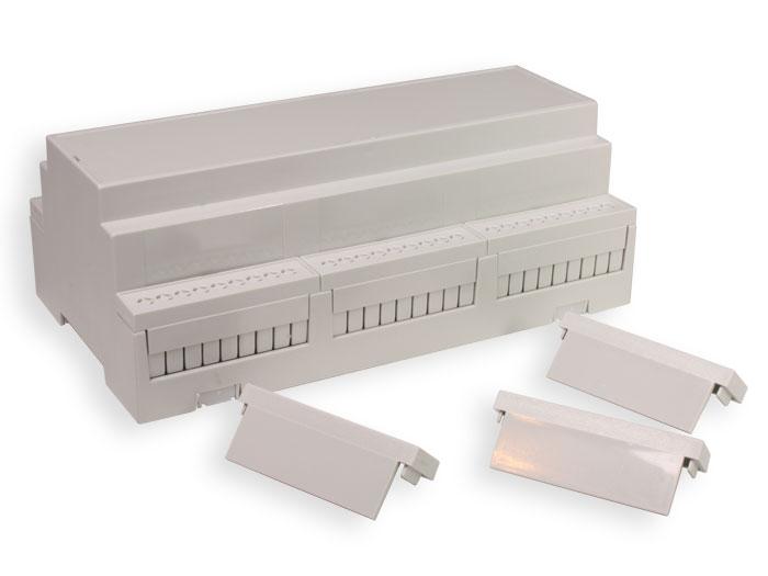 Caixa trilho DIN 54 conexões 58X90 x 160 mm