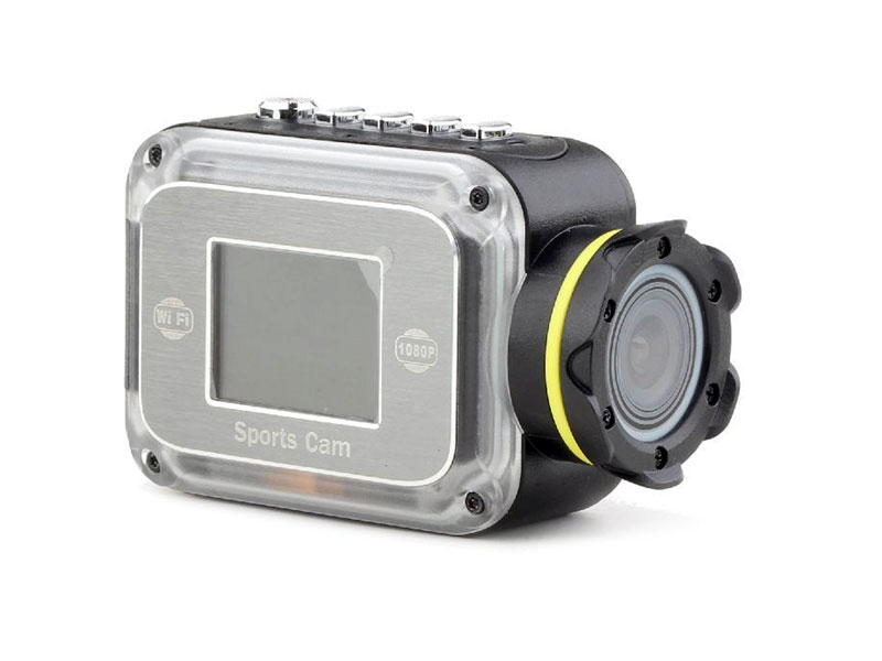 HD Action camera with waterproof camera case - WiFi