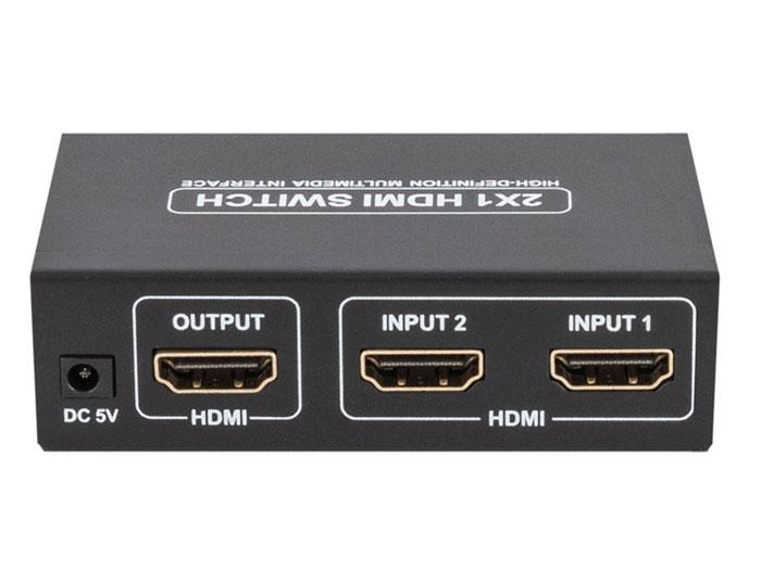 SeLecteur HDMI 2 Entrées, 1 Sortie - Amplifié avec Télécommande - ACTVH002