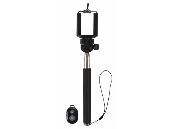 Extendable monopod - with smartphone holder and WiFi remote control shutter release - selfie stick