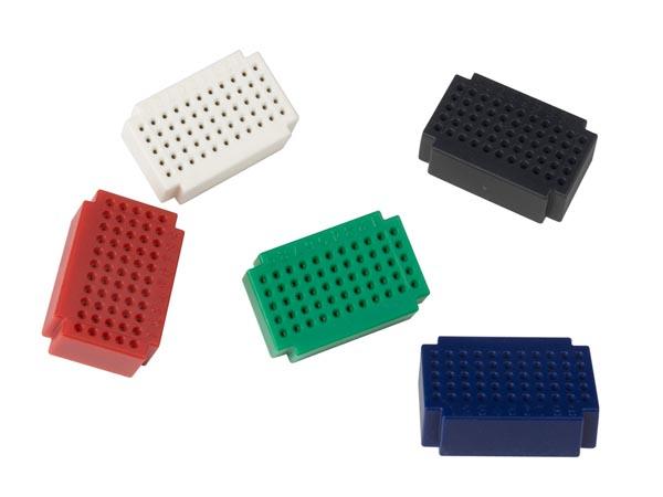 Conjunto Mini Módulos Breadboard 55 Contactos - 5 Unidades - VTBB6
