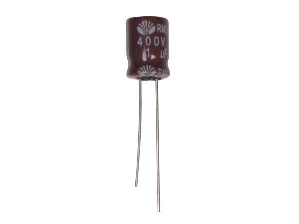 Condensador Electrolítico Radial 1 µF - 400 V - 105°C