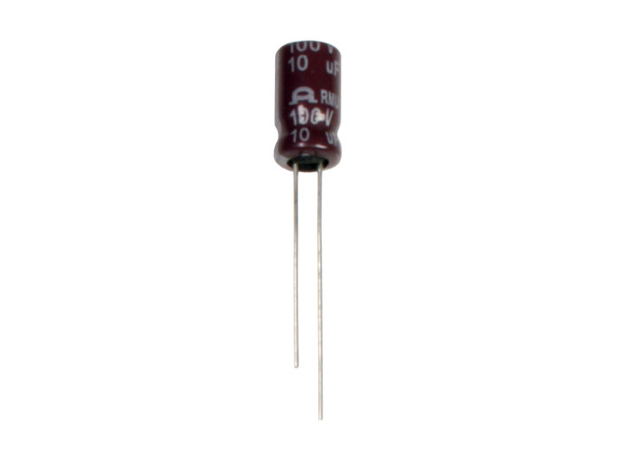 Radial Electrolytic Capacitor 10 µF - 100 V - 105°C