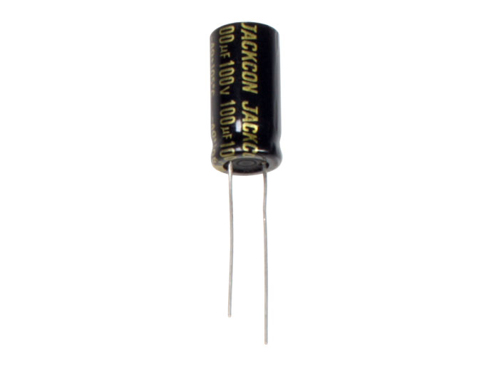 Condensador Electrolítico Radial 100 µF - 100 V - 105°C