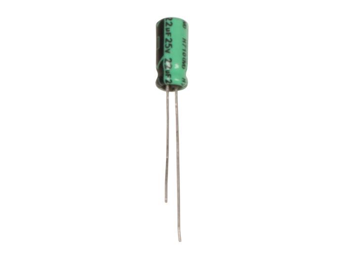 Radial Electrolytic Capacitor 22 µF - 25 V - 85°C