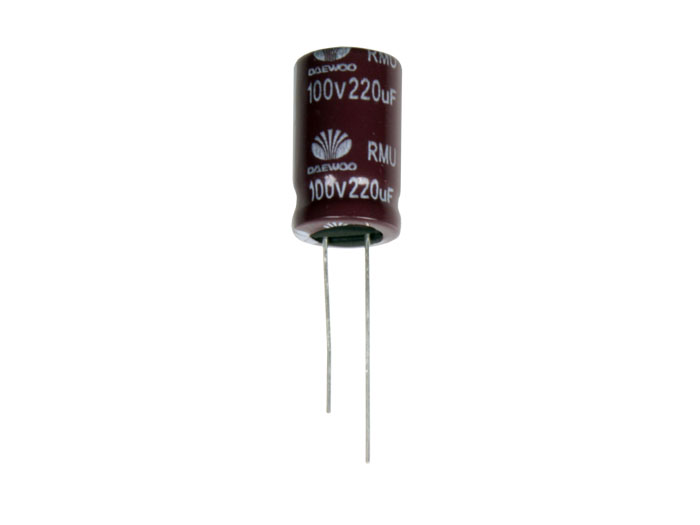 Radial Electrolytic Capacitor 220 µF - 100 V - 105°C - 80860