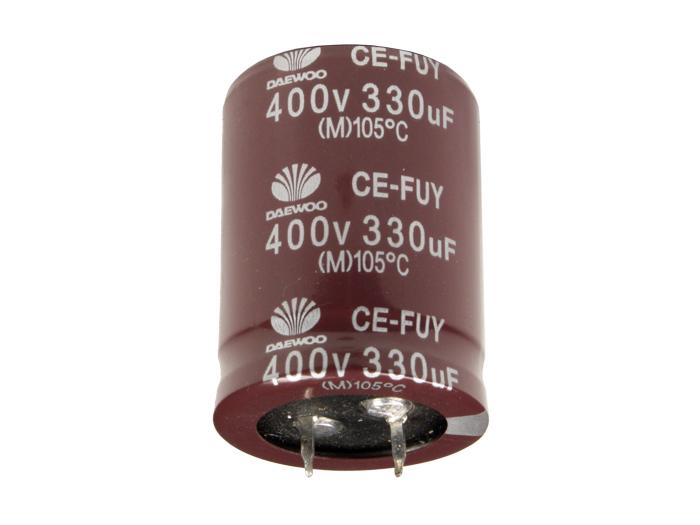 Radial Electrolytic Capacitor 330 µF - 400 V - 105°C