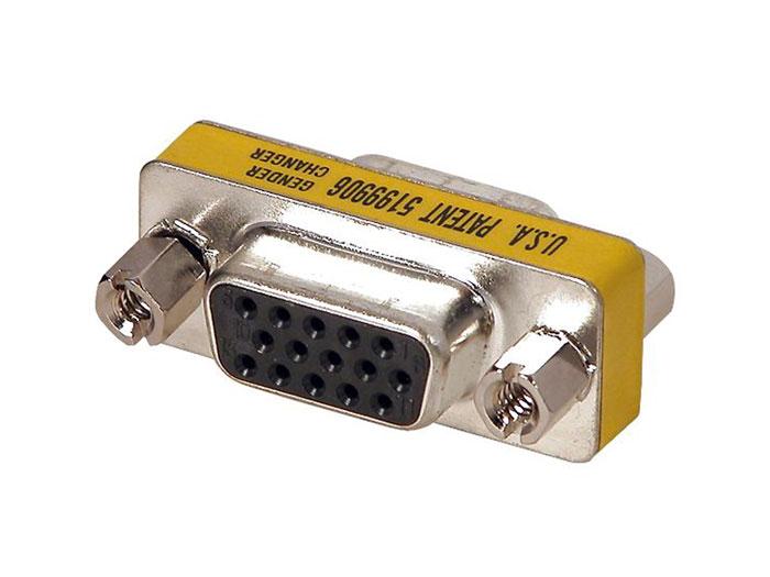 Adaptador sub-D Alta Densidad 15 Pin Hembra - 15 Pin Hembra