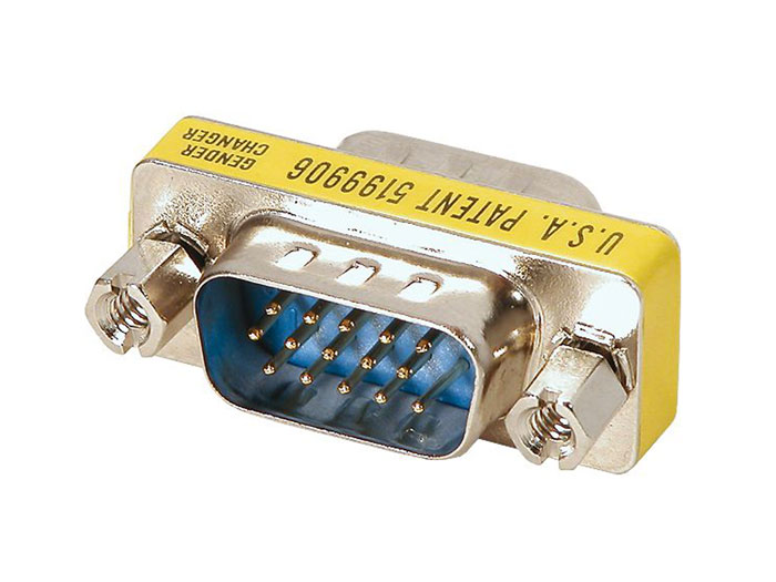 D-sub High Density 15 Pin Male to 15 Pin Male Adaptor