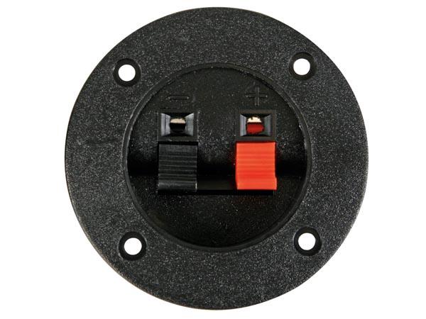 Panel-Mount Speaker Terminal - Circular - Switch - LSC1