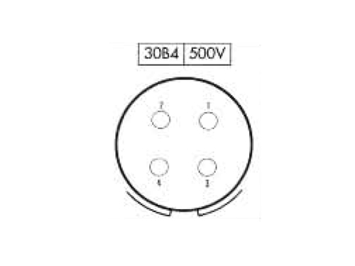 BM30B4 (C920234P) - 4 contacts male receptacle size 30 circular connector