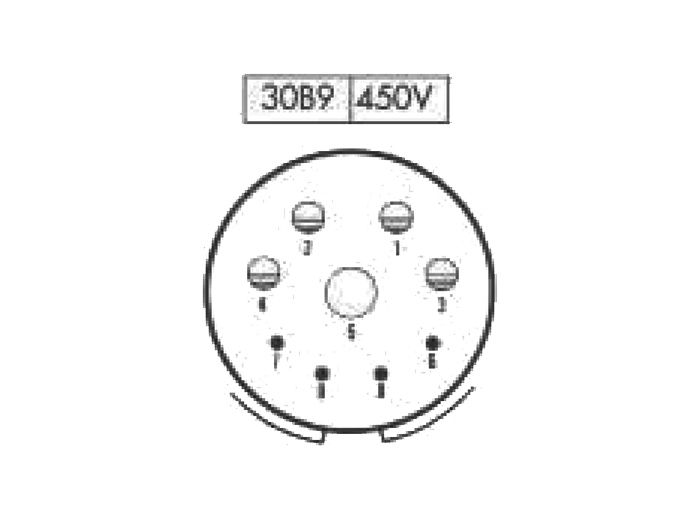 FMR30B9 (920639JP) - 9 contacts male size 30 in-line mount circular connector