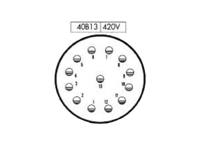 FMR40B13 (C9206413APPB) - 13 contacts male size 40 in-line mount circular connector