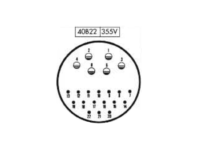 BM40B22 (C9202422AAP) - 22 contacts male receptacle size 40 circular connector