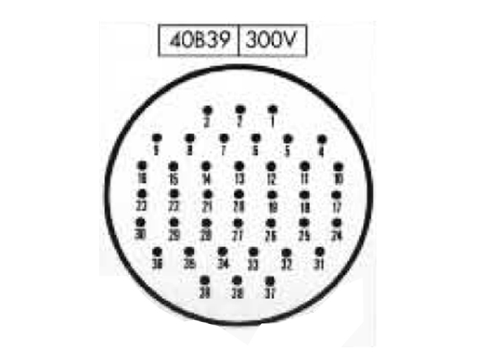 BHE40B39 (C9202439RS) - 39 contacts female receptacle size 40 circular connector