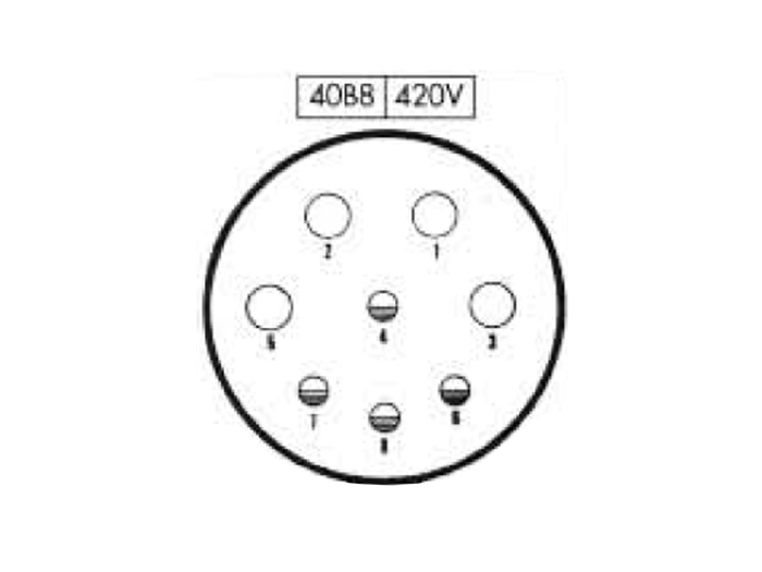 BHE40B8 (C920248MS) - 8 contacts female receptacle size 40 circular connector