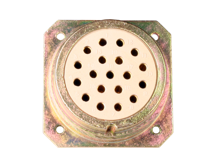 BHE40B19 (C9202419ARS) - 19 contacts female receptacle size 40 circular connector