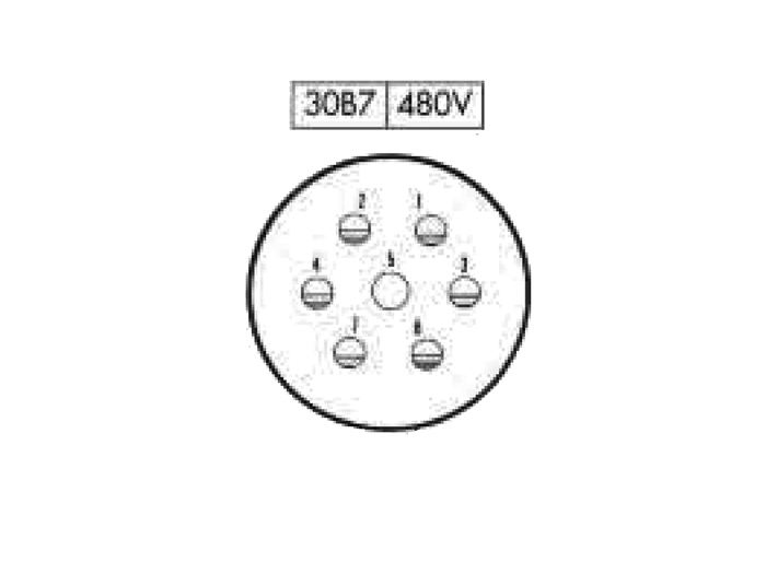 FHR30B7 (920637YS) - 7 contacts female size 30 in-line mount circular connector