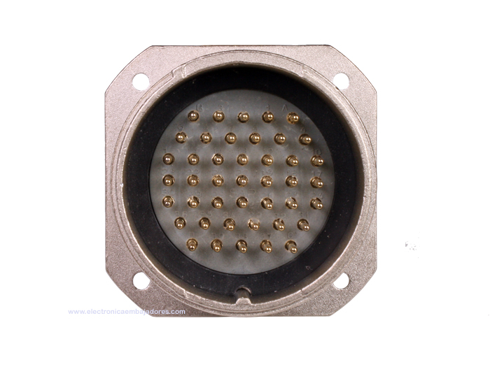 BM40B43 (C9202443RP) - 43 contacts male receptacle size 40 circular connector