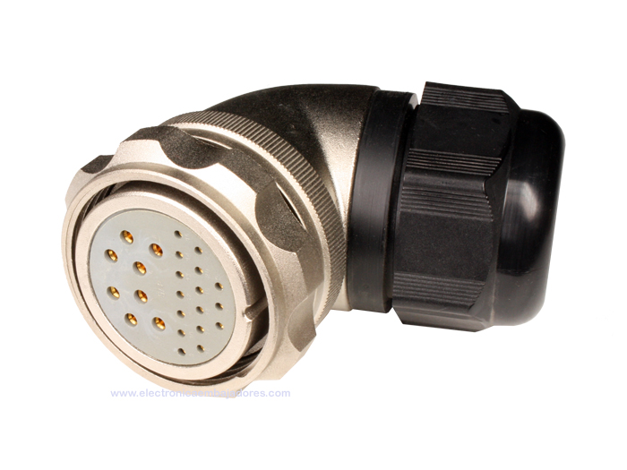 FHC40B24 (C9208424AAS) - 24 contacts female size 40 right angle mount circular connector