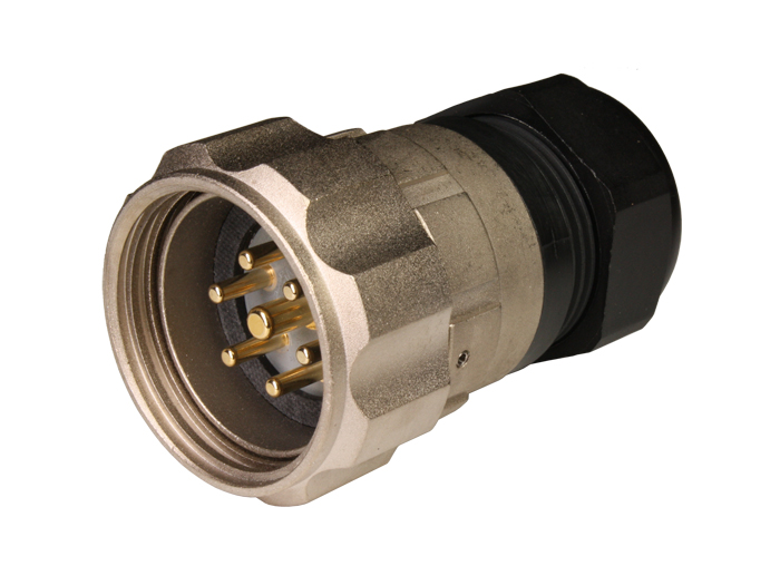 FMR30B7 (920637YP) - 7 contacts male size 30 in-line mount circular connector