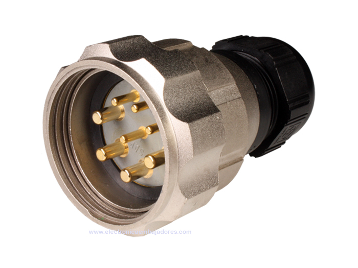 FMR40B8 (C920648MBPB) - 8 contacts male size 40 in-line mount circular connector