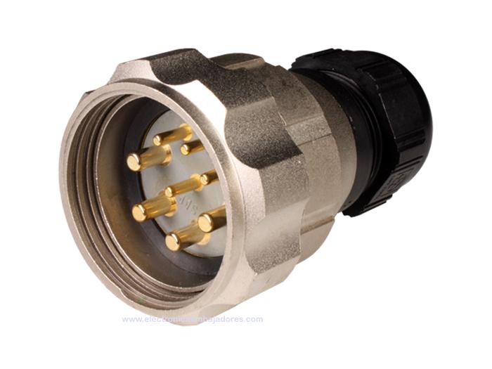Connecteur circulaire taille 40 fiche mâle droite 8 pôles FMR40B8 (C920648MBPB)
