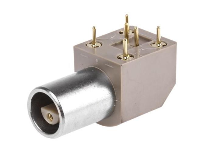 Ficha LEMO série 0S FÉMEA circuito impresso 2 pinos - EPL.0S.302.HLN